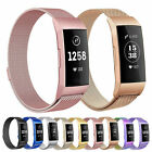 Milanese Magnet Loop Strap For Fitbit Charge 3 4 Stainless Steel Band Wrist band image