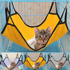 Pet Cat Hanging Hammock Cage Puppy Bed Toy Play Swing Sleep Rest + 4pcs Hanger
