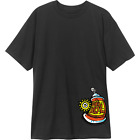 The New Deal Skateboards Spray Can Logo Black T-Shirt image