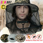 Mosquito Bee Insect Mesh Net Midge Insect Camping Bug Hat Protector Head Face US