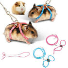 1pc Adjustable Pet Rat Mouse Hamster Harness Rope Lead Leash Bell Supplies