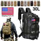 30L Military Tactical Rucksack Backpack Daypack Bag Hiking Camping Outdoor Sport