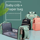 2020 Multifunctional Travel Mommy Diaper Bag With baby Crib Waterproof BackPack