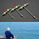 Fishing 3 Way Rolling Swivel T-shape Cross-line Mini With Beads Luminous I1a1