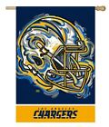 Los Angeles Chargers Flag 2 Sided Justin Patten House Banner NFL Football Helmet $26.7 CAD on eBay