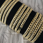 Kyпить 10K Yellow Gold 3mm 4mm 5mm Real Miami Cuban Link Necklace Chain 16