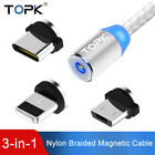 Topk 3 IN 1 Magnetic USB Cable Phone Charge Cable for iPhoen Micro USB Type C