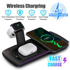 15W Qi Wireless Charging Dock Charger Stand For iPhone Apple Watch Serie Station