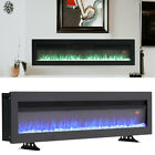 40/50/60 INCH LED DIGITAL FLAMES BLACK/WHITE WALL MOUNTED ELECTRIC FIRE w/REMOTE