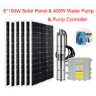 Solar Panel High Flow Submersible Bore Well Irrigation Water Pump System