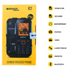 Sonica R2 Ip68 Builders Phone Waterproof Shockproof Tough Rugged R1 Sim Cat