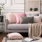Simple Tassel Throw Pillow Covers Set Of 2 Sofa Decor Velvet Cushion Pillowcases