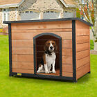 Wood Dog Houses for Medium Large Dogs Weatherproof Outside Dog Kennel with Door