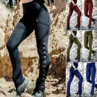 Women Medieval Renaissance Shapely Leg Gothic Steampunk Trousers Cosplay Costume
