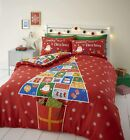 Catherine Lansfield Countdown to Christmas Childrens Duvet Cover Set with pocket