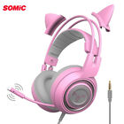 Somic G951S Cat ear headset compatible with PC and cell phone PUBG TPS FPS Games