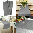 Rustic Jute Burlap Table Runner Natural Imitated Linen Table Wedding Xmas Decor