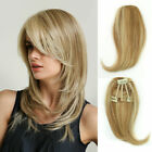 straight clip in human hair extensions bangs fringe remy human hairpiece topper