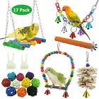 17 Pack/Set Beaks Metal Rope Small Parrot Toys Budgie Cockatiel Cage Bird Toy