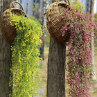 Artificial Fake Hanging Flower Vine Plant Home Wall Decoration Indoor Outdos Dh