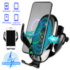 Qi Auto Wireless Car Charger Fast Charging Air Vent Mount Clamping Phone Holder