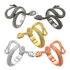 Cuff Band Ring Bague Snake Serpent Reptile Schlangenr Draco Adjustable 19mm P17