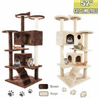 52'' Large Cat Tree Tower Kitten Scratching Post Pet Activity Centre Scratcher