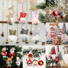 Christmas Ornaments Angle Doll Glitter Flower Icicle Hanging Home Xmas Party