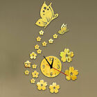 Acrylic Wall Clock Butterfly Watch Ornament Floral Designed DIY Suitable