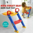 Childrens Toilet Seat  Ladder Toddler Training Step Up For Kids Easy Fold Down