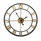 40CM Large Outdoor Silent Roman Numeral Giant Open Face Round Antique Wall Clock