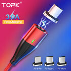 TOPK 3 IN 1 Magnetic Phone Charger for iOS Micro USB/ Type C Fast Charging Cable