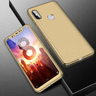 360° Full Cover Case + Tempered Glass For Xiaomi Mi 8 SE A1 A2 Lite Pocophone F1