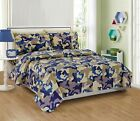 Mk Collection 3pc Twin Size Sheet Set Camouflage Army Beige Blue Taupe Off White
