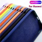 Case For Huawei P30 Lite P40 P20 Pro Honor 20 Shockproof Liquid Silicone Cover