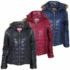 New Ladies Celeb Inspired Puffer Coat Detatchable Hood  Casual Womens Jacket