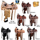 17 In Western Horse Wade Saddle  Leather Ranch Roping U-7-MX