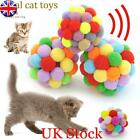 Funny Soft Kitten Cat Toy Plush Ball Pet Dog Toys Balls Interactive Assorted UK