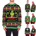 Mens&Womens Couple Matching Christmas Xmas Jumper Knitted Sweater Pullover Tops
