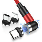 Topk 3-IN-1540° Magnetic Phone Cable USB Charger for iPhone Micro Type C 6.6ft