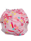 Adult baby diaper cover with flower pink prints