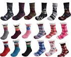 Womens Xmas Socks Sherpa Fleece Thermal Casual Regular Warm Lounge Gripper