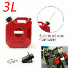 3L Car Jerry Cans Gas Diesel Fuel Tank Fit For Motorcycle with Lock+Mounting A3