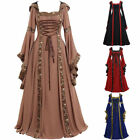 Cosplay Costume Gothic Long Dress Plus Size S-5XL New Women Medieval Witch Dress