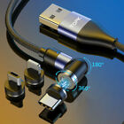 TOPK 3A 3-IN-1 Magnetic Rotate 540° Fast Charge Cable fr Type C Micro USB iPhone