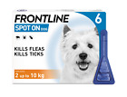 Frontline Spot On SMALL Dog Flea & Tick Treatment 1,2,3 & 6 Pipettes AVM-GSL