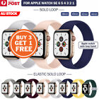 For Apple Watch Band Series Se 6 5 4 3 2 Solo Loop Silicone Elastic Iwatch Strap