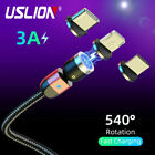 3A Magnetic Type C Micro USB Fast Charger Data Sync Charging Cord Phone Cable