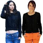 Womens Long Sleeve Round Neck Tops Long Sleeve Laced Knitted Button Front Jumper