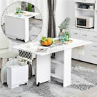 Expandable Rolling Kitchen Storage Island Cart Trolley Folding Dining Table Set